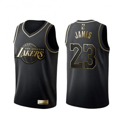 KKSY Camiseta de Baloncesto Hombres James Lakers  23 Black Gold Color Match Retro Fitness Camiseta sin Mangas Top Deportivo